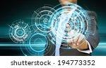 businessman using tactile... | Shutterstock . vector #194773352