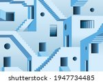 concept of the surreal maze... | Shutterstock .eps vector #1947734485