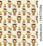 cute indian pattern design.... | Shutterstock .eps vector #194775386