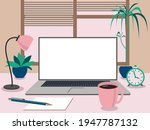vector graphics a laptop with a ...   Shutterstock .eps vector #1947787132