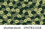 camouflage with green kissing...   Shutterstock .eps vector #1947811318