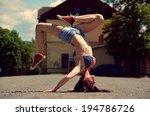 breakdance girl on the street | Shutterstock . vector #194786726