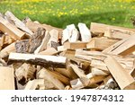 Chopped Firewood Stacked On...