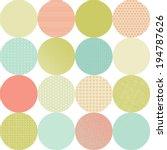 seamless pattern of circles.  | Shutterstock .eps vector #194787626