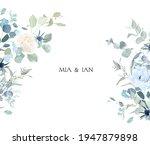 creamy beige rose  anemone ... | Shutterstock .eps vector #1947879898