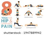 infographic 8 yoga poses for... | Shutterstock .eps vector #1947889942