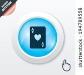 casino sign icon. playing card...
