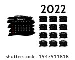 calendar for 2022 with large...   Shutterstock .eps vector #1947911818
