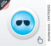 aviator sunglasses sign icon....