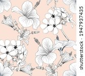 seamless pattern floral with...   Shutterstock .eps vector #1947937435