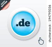 domain de sign icon. top level...