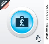 case with pounds gbp sign icon. ...