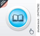 book sign icon. open book...