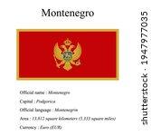 montenegro national flag ...   Shutterstock .eps vector #1947977035