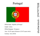 portugal national flag  country'...   Shutterstock .eps vector #1947977038