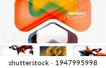 set of trendy futuristic...   Shutterstock .eps vector #1947995998