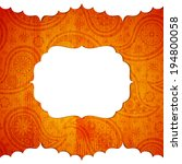 frame in the indian style on... | Shutterstock .eps vector #194800058