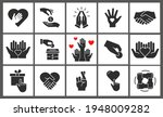 charity icon set. collection of ... | Shutterstock .eps vector #1948009282
