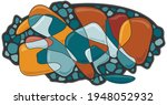 abstract pattern with graphic... | Shutterstock .eps vector #1948052932