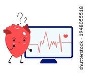 arrhythmia or irregular...   Shutterstock .eps vector #1948055518