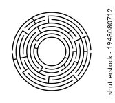 vector circle maze isolated on...   Shutterstock .eps vector #1948080712