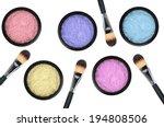 Set Of 5 Eyeshadows And Brushe...