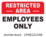 restricted area employees only... | Shutterstock .eps vector #1948121248