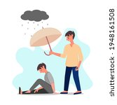 man is comforting another man ...   Shutterstock .eps vector #1948161508
