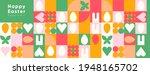 happy easter. flat vector... | Shutterstock .eps vector #1948165702