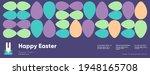 happy easter. flat vector... | Shutterstock .eps vector #1948165708