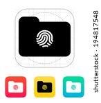 thumbprint on folder icon.