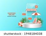 shopping online template via... | Shutterstock .eps vector #1948184038