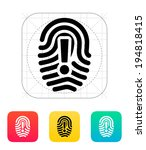 attention sign on fingerprint...