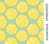 lemons seamless background....   Shutterstock .eps vector #1948224925