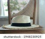 beautiful white panama hat on...   Shutterstock . vector #1948230925