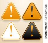 set of triangular signs.... | Shutterstock .eps vector #194824058
