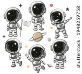 cute cartoon space set of... | Shutterstock .eps vector #1948259758