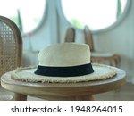 beautiful white panama hat on...   Shutterstock . vector #1948264015