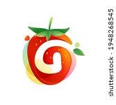 letter g logo on a tasty ripe...   Shutterstock .eps vector #1948268545