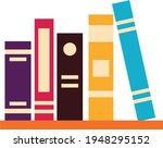 books notebooks reading list... | Shutterstock .eps vector #1948295152