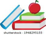 books notebooks reading list... | Shutterstock .eps vector #1948295155