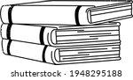 books notebooks reading list... | Shutterstock .eps vector #1948295188