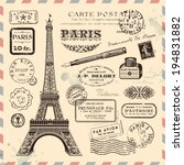 Paris Postage Design Elements