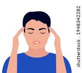 man is in headache  dizziness ... | Shutterstock .eps vector #1948342282