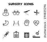 surgery icons  mono vector... | Shutterstock .eps vector #194835296