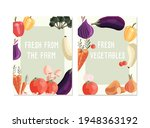 two vertical poster templates... | Shutterstock .eps vector #1948363192