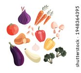 collection of colorful fresh... | Shutterstock .eps vector #1948364395