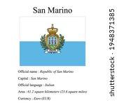 san marino national flag ...   Shutterstock .eps vector #1948371385