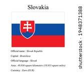slovakia national flag  country'...   Shutterstock .eps vector #1948371388