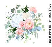 dusty blue  peachy blush rose ...   Shutterstock .eps vector #1948376428